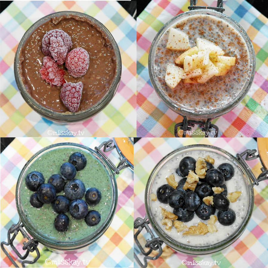 Chia Protein Pudding (Vegan/Paleo) - 4 Flavors