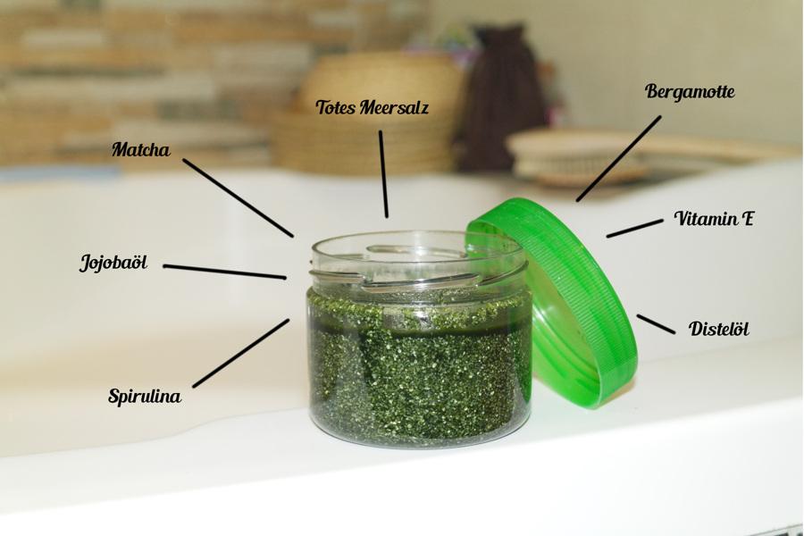 DIY Body Scrub mit Spirulina & Matcha